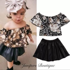 Other - Boutique Girls Trendy 2pc Top & Skirt
